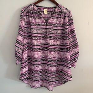Purple pattern top